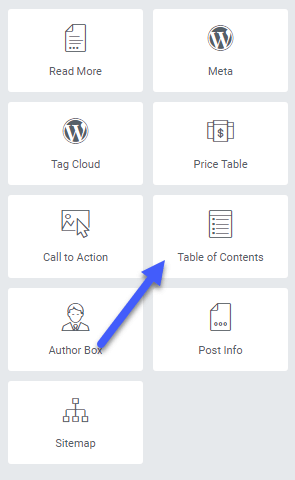 table-of-content-elementor-pro